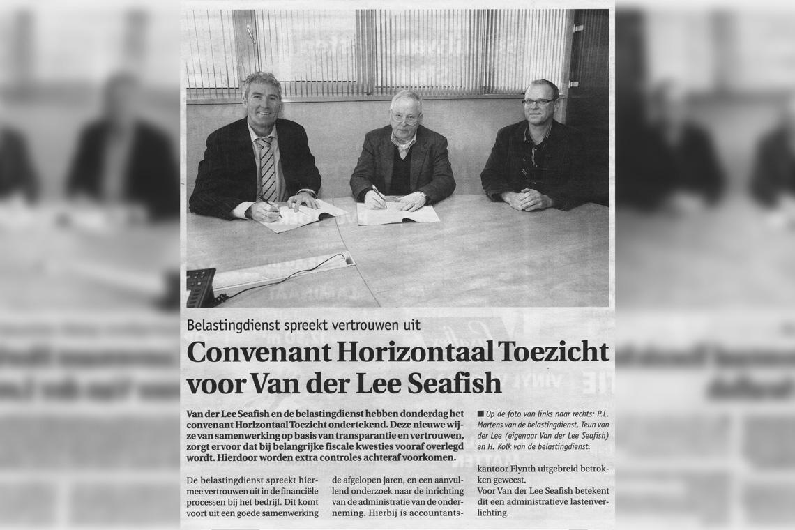Van der Lee Seafish e l'Amministrazione fiscale olandese firmano un accordo
